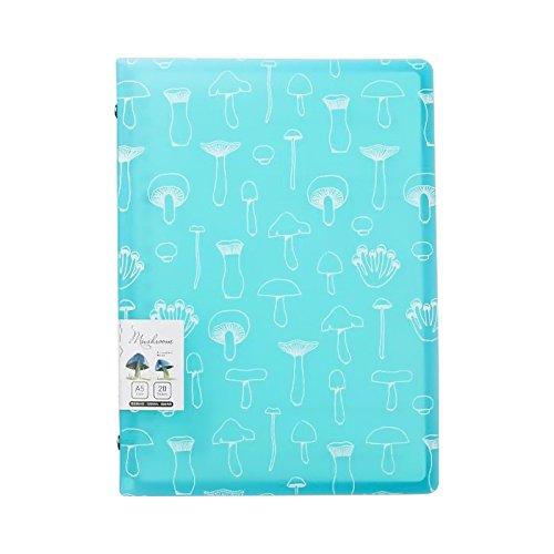 A5loseblattwerken Notebook 20Löcher nachfüllbar Spirale Notizblock College liniertes Papier blau (Notebook Kleine Spirale)