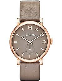 Marc Jacobs MBM1266 - Reloj con correa de cuero, para mujer, color gris