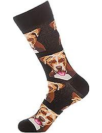 JYC Calcetines Mujer,Medias Mujer Sexy,Unisex Colorido Otoño Perro Calcetines EnTubo Casual Algodón