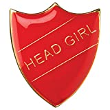 Head Girl Shield Badge Red Large 3cm GW/SR3