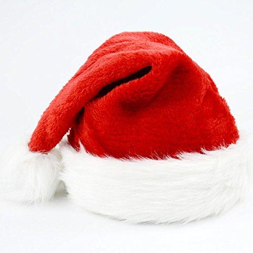 GXYLLDS Plüsch Weihnachtsmütze Santa Hüte Kostüm Für (Kostüme Santa Kind Anzug Plüsch)