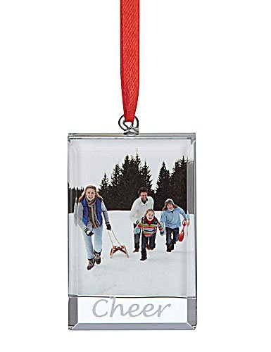Lenox Sweetest Sentiments Cheer zum Aufhängen Ornament Rahmen (Ornaments Christmas Lenox Tree)