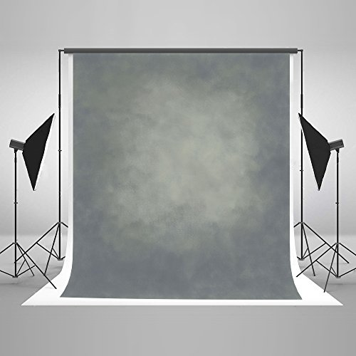 KateHome PHOTOSTUDIOS 3x3m Grau Fotografie Hintergrund Abstrakt Hintergründe Portrait Fotohintergründe Mikrofaser Hintergrund für Fotostudio