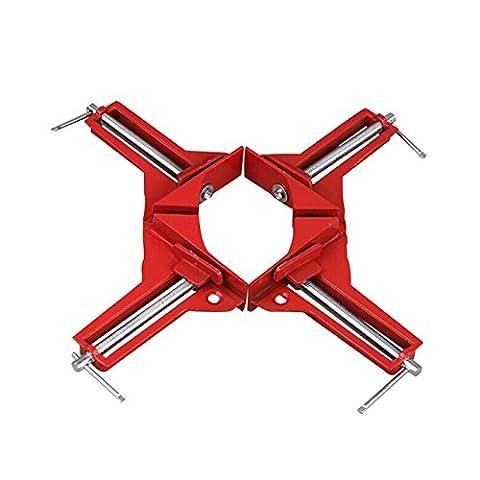 4Pince d'angle 75mm 90degrés d'angle à angle droit Anglet Outil 7,6cm Capacité Cadres photo Jig