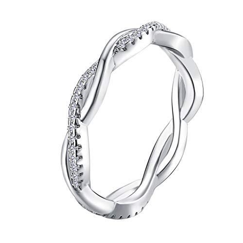 Provide The Best Paare Hochzeit Kristall-Ring Punk Twist Schleife Kreis Frau Mann-Mädchen-Dame-Partei Schmuck Ringe -