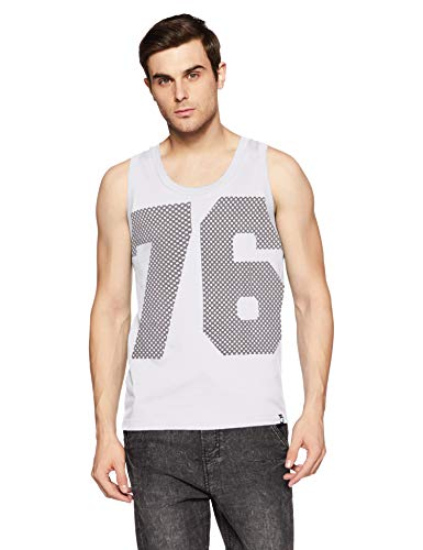 Jockey Men's Regular Fit Tank Top (9928 White Large)