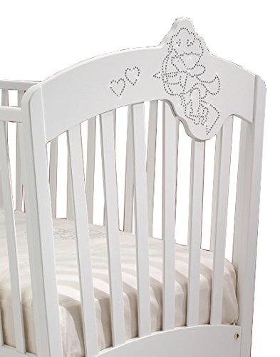 Cot Bed Ivory Wood Baby Baby Italy Cupido   2