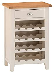 The Furniture Outlet Chester Grey Painted Oak Wine Cabinet
