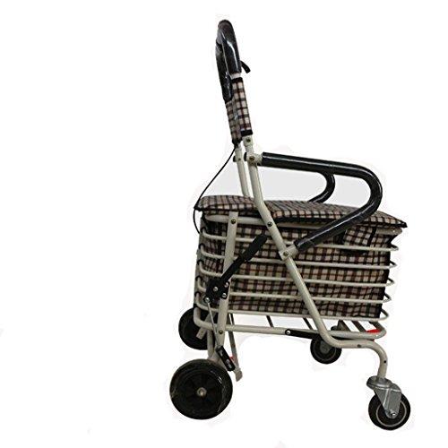 Shopping Cart metallo anziani supermercato Shopping Carrello pieghevole portatile Home