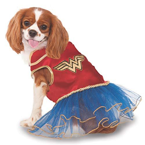Rubies Costume Company DC Comics Wonder Woman Pet Tutu Kleid (Wonder Haustier Kostüm)