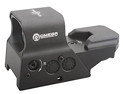 TAC Vector Optics Omega 1x Tactical Solar Reflex 8 Reticle Red Dot Sight Scope US Design in High End Quality fit for .223rem 5.56MM AK74 Color