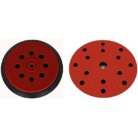 Plato lijador medio para Hilti WFE 150E disco de lijado de VELCRO Ø 150mm - con 15-agujeros para la extracción de polvo - suave medio o duro - a su elección -