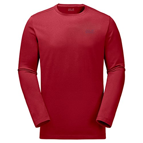 Preisvergleich Produktbild JACK WOLFSKIN Herren Langarm-Shirt ESSENTIAL LONGSLEEVE MEN, indian red, XL, 1806041-2210005