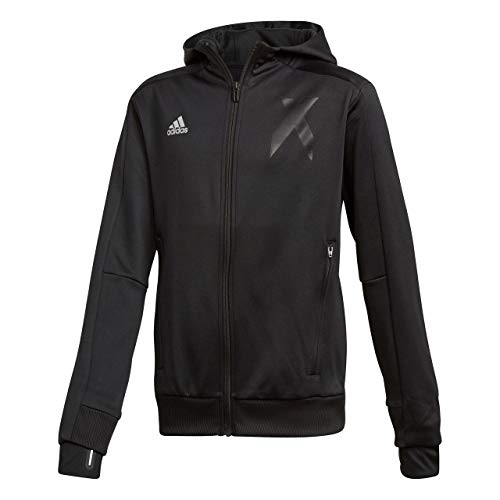 adidas Jungen X Full Zip Kapuzen-Jacke, Black, 152