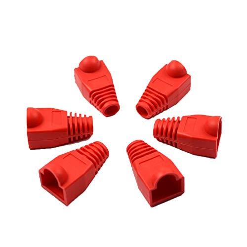 MRLIFY RJ-45-Adapter-Kappe für 0.6mm Ethernet-Netzwerkkabel-Stecker RJ45 Cat5 CAT6-Abdeckkappe Socket-Boots-Kappen-Kopf 20pc - Boot-rj-45-kabel