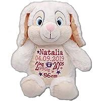 Peluche lapin personnalisé brodé du prénom de bébé cadeau pour naissance baptême
