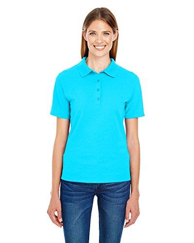 Hanes Damen Poloshirt Blue Horizon