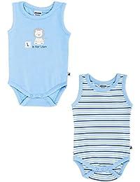 Jacky Baby Jungen Achsel-Body ärmellos 2er-Pack Baby boy hellblau 151712