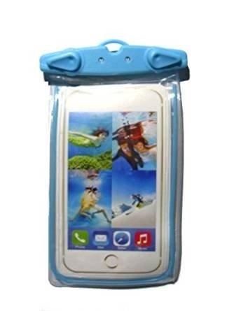 Deet® iPhone 6S Wasserdicht Handy Tasche Hülle Case Dry Bag mit Strap. Blau Glow in the Dark Surround -