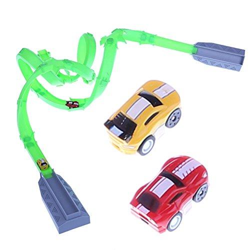Domybest Miniaturen Auto Set High-Speed Racing Rückluft Bahn Kinder Spielzeug Autos