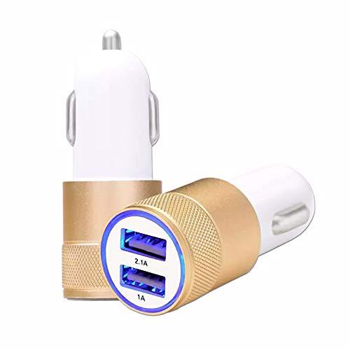 Unbekannt Cubot H2 KFZ-Ladegerät, USB, goldfarben, Dual Ports, sehr schnell, USB X2, 12/24 V