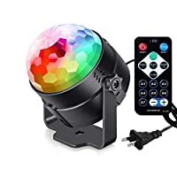 Sound Activated Party Lights with Remote Control DJ Lighting, RBG Disco Ball Light, Strobe Lamp 7 Modes Stage Par Light for Home Room Dance Parties Bar Karaoke Xmas Wedding Show Club