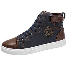 Zapatillas de Hombre, Además de Botines de Terciopelo Zapatos Zapatos de tacón Alto Zapatos de