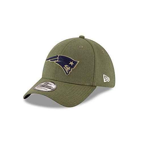 New Era New England Patriots 39thirty Stretch Cap On Field 2018 Salute to Service Green - M - L