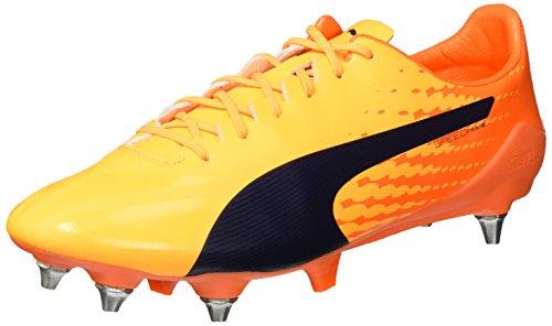 Puma Evospeed 17 Sl S Mx Sg, Chaussures de Football Homme Jaune (Ultra Yellow-peacoat-orange Clown Fish 02)