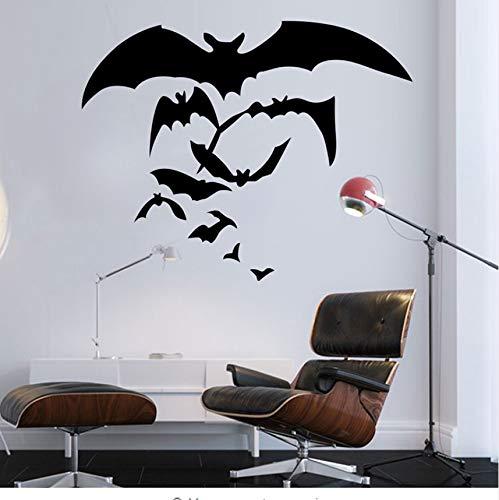 Halloween 3D Wandaufkleber Kreative Bat Form Wand dekor Wasserdichte Küche Wohnzimmer Dekoration Wandaufkleber Für Kinderzimmer 57x45cm (Halloween Wallpaper Minecraft)