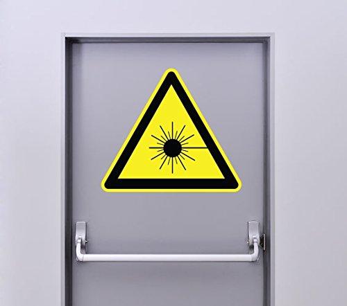 Autocollant Signalétique Panneau Danger Laser rayonnant - 25cm x 22cm
