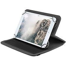 Home Funda tablet universal de 7 pulgadas con soporte giratorio diseño ZigZag (Negro)
