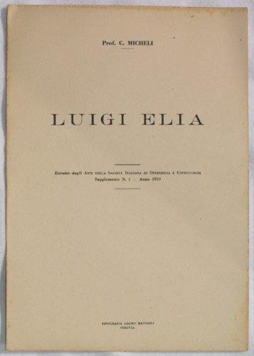 Luigi Elia.