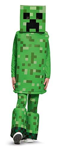 Creeper Prestige Minecraft Costume, Green, Medium (7-8)