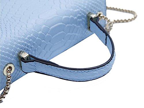 Coccodrillo Borsa In Pelle Modello Ms. Blue