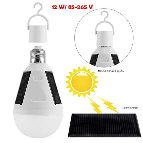 Solarbetriebene LED-Lampe, Tragbare LED-Lampe, Solarleuchte mit Solarpanel für Outdoor-Aktivitäten, Wandern, Camping, Zelt, Angel-Beleuchtung
