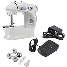 Tellaboull Mini Mesa eléctrica Multifuncional del hogar de la máquina de Coser con la Costura reversa