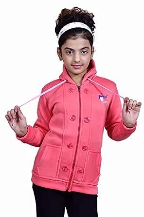 Blushh Collection Girls Colorfull Hooded Fullsleeve Zipper Sweatshirt (Pack of 1)