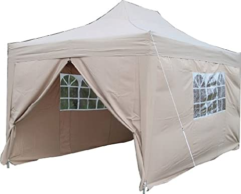 Airwave 4.5mtr x 3mtr Gazebo, FULLY WATERPROOF, BEIGE with Four