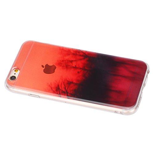 Felfy Hülle für iPhone 6,iPhone 6S Case Crystal Hülle Klare Ultradünne Silikon Gel Schutzhülle Durchsichtig Muster Kristall Transparent TPU Silikon Schutz Handy Hülle Case Tasche Etui Bumper für Apple Verwelkt Case
