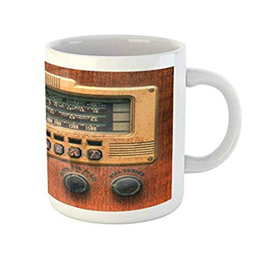 Printed Radio Antique MugRetro Gift Xiamd Holiday Ceramic Vintage Player Tea Enjoyment Coffee Taza Music Drinks Ancient Mug Water Cup 8vNymwn0O