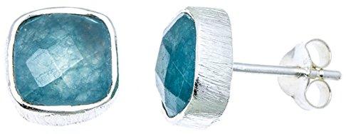 chic-net-studs-aqua-calcite-carre-de-8-mm-en-argent-sterling-925-facettes-bord-rainure