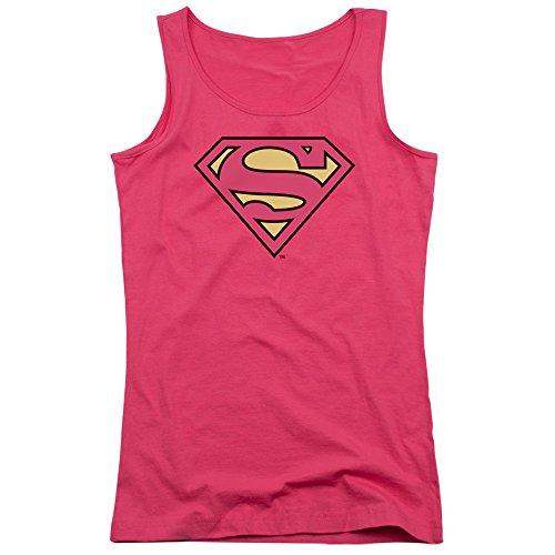 DC - Superman Classique Logo jeunes femmes Débardeur - DC Hot Pink