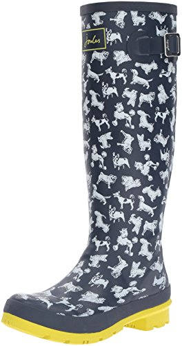 Joules Welly Print Donna Stivali Blu Blue