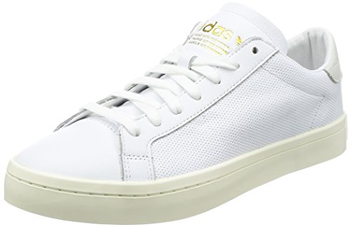 adidas Unisex-Erwachsene Courtvantage Sneaker, Weiß (Footwear White/Footwear White/Footwear White), 44 2/3 EU