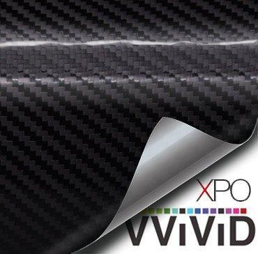 Vinyl-boot-wraps (Schwarz Carbon glänzend Tech Art 30,5x 152,4cm 3Schicht 3D (nicht gedruckt) Realistische True Carbon Fiber Optik Vinyl Wrap Für Auto, Boot, Fahrrad vvivid XPO von vvivid)