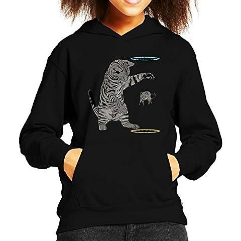 Portal Cat Get That Mouse Kid's Hooded Sweatshirt