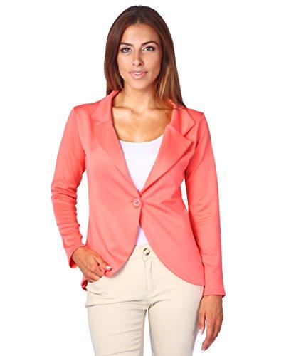3558-COR-16: KRISP Damen Fashion Blazer (Koralle, Gr.44)
