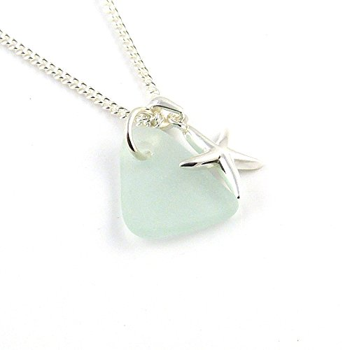 sea-glass-necklace-sterling-silver-starfish-charm-necklace-c174