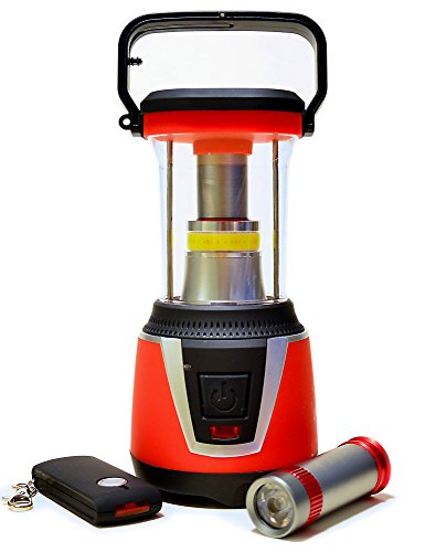 LED Camping Laterne 32 LED\'s hell - Robust tragbare Campinglampe mit gesonderten Taschenlampe + Fernbedienung - Camping Latern rotlicht